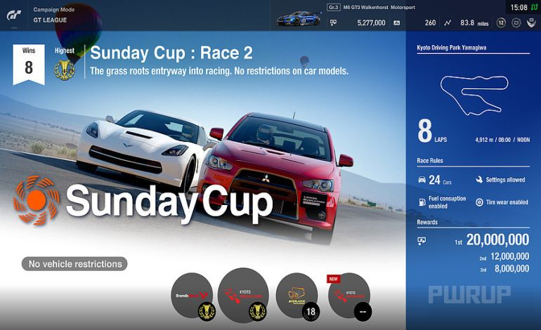 Gran Turismo Sport visited at www.games.ch