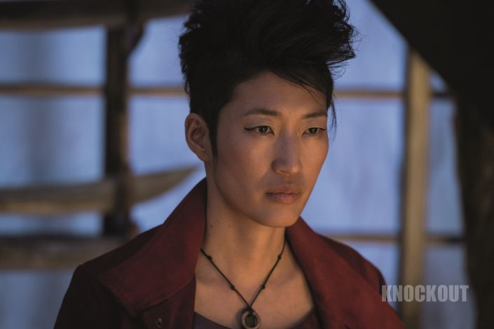 Jihae as Anna Fang in Mortal Engines. The film is directed by Christian Rivers, and written by Fran Walsh, Philippa Boyens and Peter Jackson based on the novel by Philip Reeve.