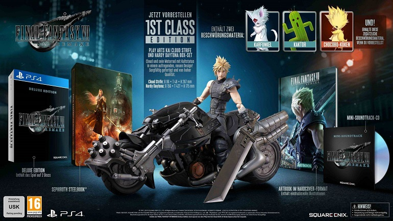 Final Fantasy 7 Remake 1st Class Edition