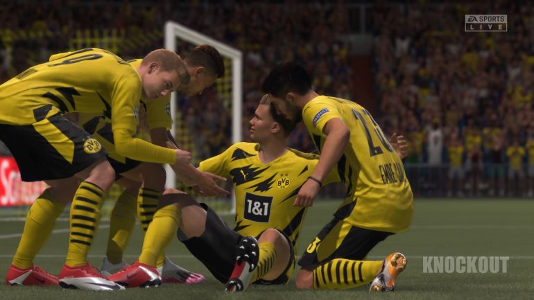 FIFA 21 Offline-Spiel 1:0 BVB : RMA, 1. HZ