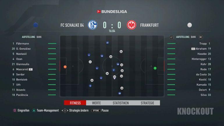 FIFA 21 Karriere: Partie 0:0 S04 : SGE, 1. HZ