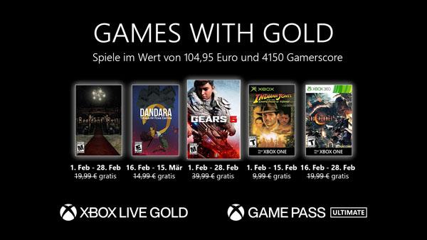 Games with Gold im Februar mit Gears 5, Resident Evil und mehr
