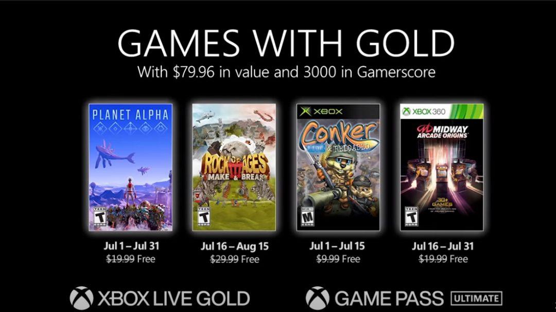 Games with Gold im Juli mit Planet Alpha, Rock of Ages 3 und mehr
